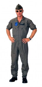 usaf pilot in jumpsuit