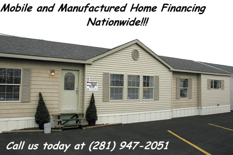Manufactured Home Financing Available Nationwide